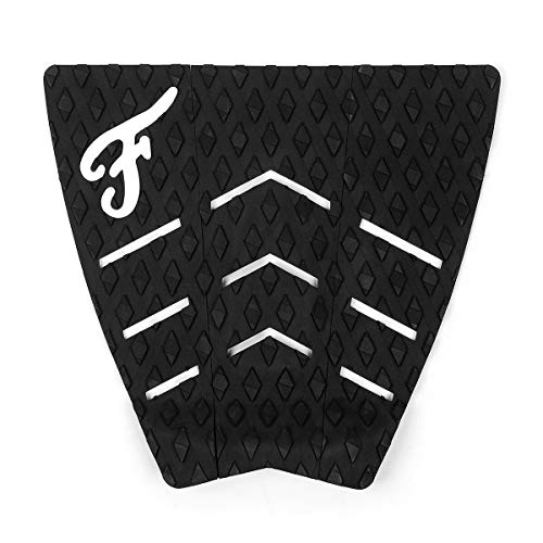 Famous Surf La Kuo Koa Black Surfboard Traction Pad - 3 Piece
