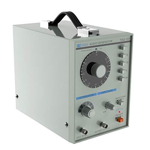 Akozon Digital Generator TAG-101 220V Hohe Präzision Niederfrequenz Signal Generator Signalquelle Funktionssignal 10 zu 1Mhz Präzision Signal Generator Eigenschaften Sinuswelle