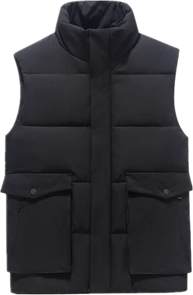 Men's Vest Winter Down Vest Casual Waistcoat Men's Sleeveless Men's Vest