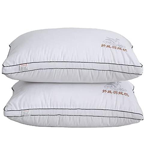 Almohadas de Cama para Dormir, Paquete de 2, Juego de Almohada de Calidad Hotelera Alternativa de Plumón Ultra Suave Almohadas para Dormir de Lado y de Espalda 74x48cm,950g
