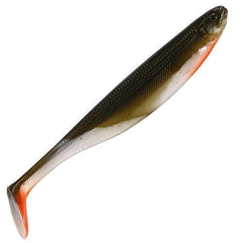 Westin Shad Teez 10cm 6g - 3 Gummifische zum Spinnfischen, Barschköder, Zanderköder, Gummiköder, Gummishad, Gummifisch, Shads, Farbe:Bass Orange