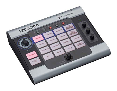 Zoom V3 Vocal Processor, Vocal Effects Pedal, 3-Part Harmony, Pitch...
