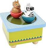 small foot 11093 Spieluhr 'Jungle' aus Holz, mit einem Zebra und einem Lama, die zur Musik tanzen,...