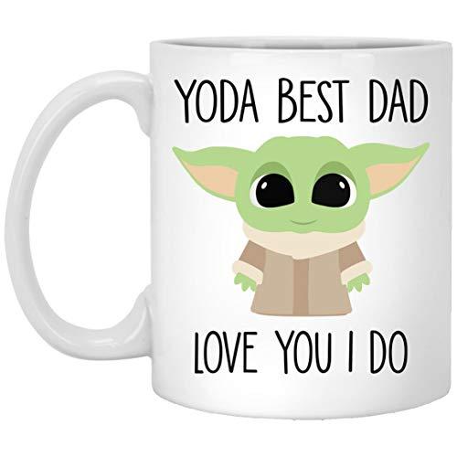 Yoda Best Dad Mug Best Dad Ever Gift Baby Yoda Coffee Mug Funny Gift For Dad Funny Dad Birthday Card Worlds Best Dad Gift Dad Mugs 11oz