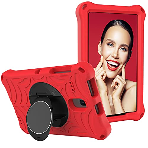 ZHIWEI Tablet PC Bag per Samsung Galaxy Tab E 8.0 T377 Tablet Case Bambini Prova di Protezione Antiurto con Supporto Rotante Leggero e Resistente, Tracolla (Color : Red)