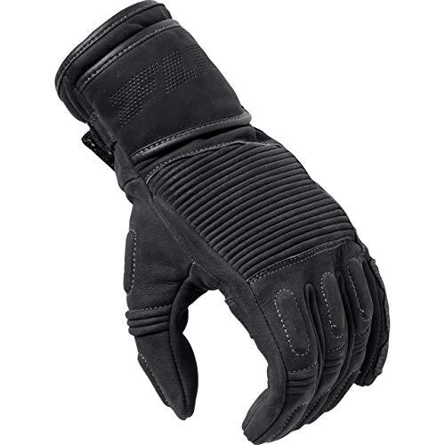 FLM Motorradhandschuhe lang Motorrad Handschuh Touren Lederhandschuh Nubuk 1.0 schwarz XL, Herren, Tourer, Ganzjährig, Kunststoff