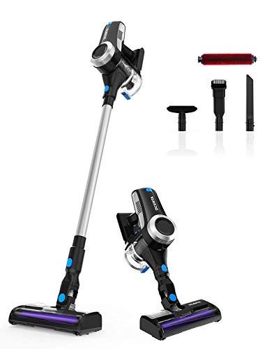 Aspirador Sin Cable, Dcenta Aspirador Ultraligera Escoba Vertical y de Mano 2 en 1, Aspirador 350W, [Clase de eficiencia energética A+++]