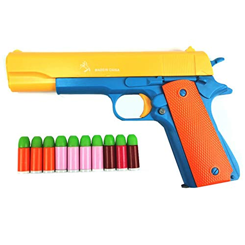 Toy Gun 1911 with Magazine and Bullets, 1: 1 Size Boys Toy Guns.Children's Gift for Training or Play