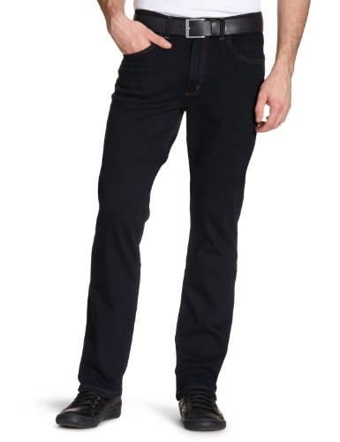 Lee Brooklyn Straight, Vaqueros para Hombre, Azul (Blue Black), W33/L34