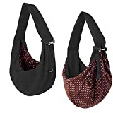 iPrimio Dog and Cat Hands Free Carrier Sling - Reversible Carrier Bag Papoose