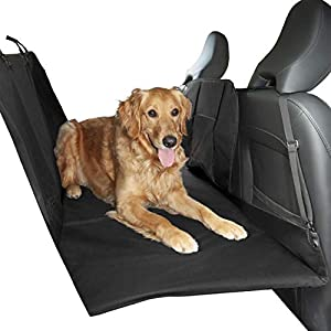 Furhaven Pet Dog Barrier and Furniture Cover – Universal Multipurpose Travel Barrier Seat Cover for Dogs with Padded Platform Backseat Bridge Extender Base and Carry Bag, Black, One-Size