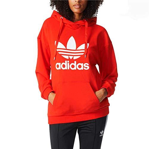 adidas Damen Trefoil Hoodie, Core Red, 42