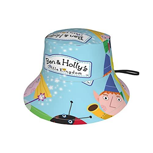 LoveOnHead Gorro de bebé para niñas y niños con correa ajustable para la barbilla, gorra de protección solar de verano para viajes al aire libre, gorra de pescador, Ben y Holly'S Little Kingdom
