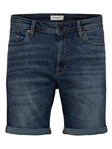 SELECTED HOMME Herren SLHALEX 329 MBLUE SU-ST DNM U NOOS Jeans-Shorts, Medium Blue Denim, XL