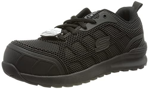 Skechers BULKIN AYAK, Zapato Industrial Mujer, Black, 37 EU
