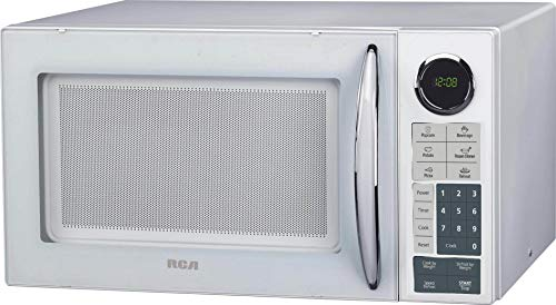RCA RMW953-WHITE 0.9 Cu Ft Countertop Microwave, White, Mid-size