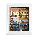 Kit de Juguete de casa, diseño de Marco de Fotos de casa de muñecas DIY Mini Kit de casa con Muebles Regalos de cumpleaños Decoración del hogar, Puede ser una Hermosa decoración del hogar