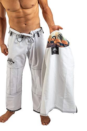 Choke&Chill Palm Springs Herren BJJ Gi Brazilian Jiu-Jitsu Kimono (Weiß, A2)