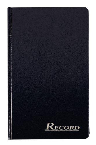 Adams Record Ledger, capa texturizada com encadernação rígida, 19 x 31 cm, 150 páginas sem ácido, azul-marinho (ARB712R1M)