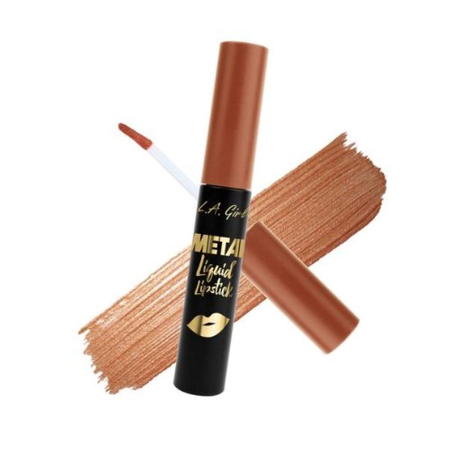 怒ってカップ勇者(6 Pack) L.A. GIRL Metal Liquid Lipstick - Copper (並行輸入品)