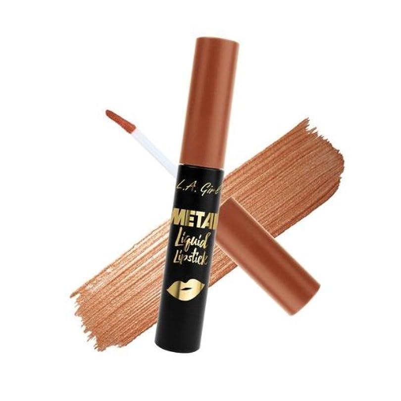 トンネルまたね手配する(6 Pack) L.A. GIRL Metal Liquid Lipstick - Copper (並行輸入品)