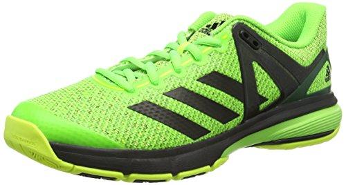 adidas Herren Court Stabil 13 Handballschuhe, Grün (Solar Green/FTWR White/Core Black), 42 EU