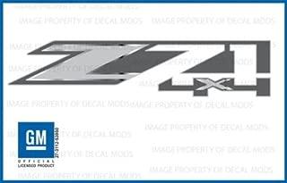 GMC Sierra Z71 4x4 Decals Bed Stickers - FMT (2014-2018) Metallic Strip Chrome (Set of 2)