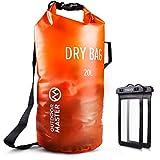 OutdoorMaster Dry Bag- 5L/10L/20L Stylisher Leichter Trockensack mit 2 freie wasserdichte Handybeutel- wasserdichte Tasche für Schwimmen, Bootfahren, Angeln & Snowboarden(5L)