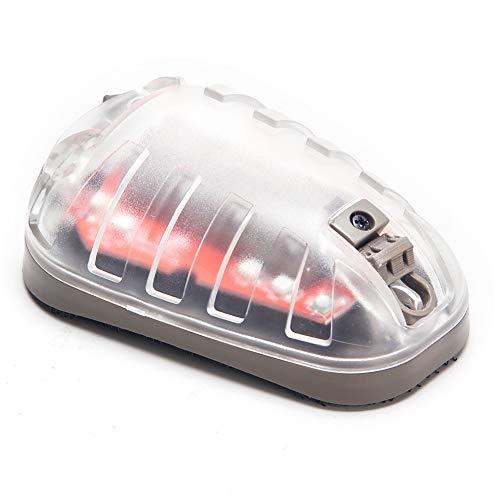 EX433-DE-RED Element airsoft Star 6 Luz de señal táctica con IR Linterna de supervivencia militar Soporte de flash para acampar Rescate rápido Luz de aventura Luz táctica militar