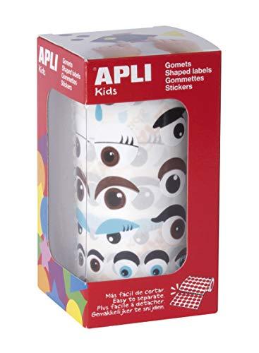 APLI Kids 17613 – Rotolo di elastici occhi multicolore assortiti