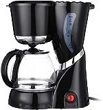 YINGGEXU Cafetera Café eléctrica de la máquina del Fabricante de té de Goteo Cafetera garrafa de Cristal Té casero Cafetera Nueva 600ml 4-6 Copas