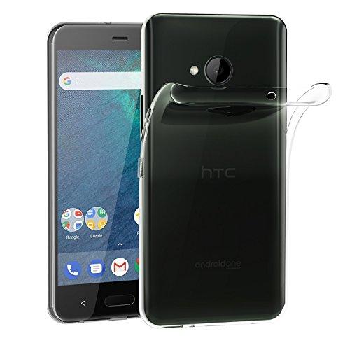 ivoler Hülle Hülle Kompatibel für HTC U11 Life, Premium Transparent Klare Tasche Schutzhülle Weiche TPU Silikon Gel Handyhülle Schmaler Cover