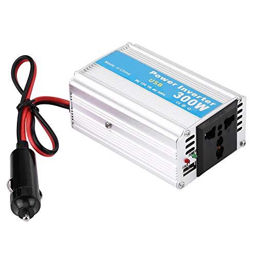 300W DC 12V zu AC 220V Aluminium Stromrichter, Silver Power Inverter Auto Power Converter Konverter USB Ladegerät Adapter