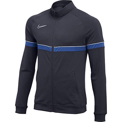 Nike Dri-FIT Academy 21 Veste Homme, Obsidienne/Blanc/Bleu Royal/Blanc, M