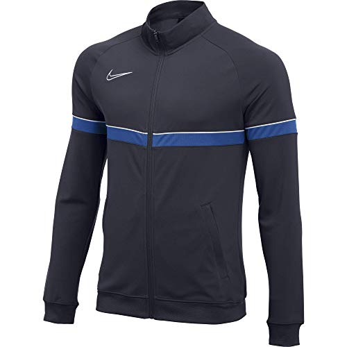 Nike Academy Veste Homme, Obsidienne/Blanc/Bleu Royal/Blanc, M