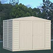 DuraMax Model 00114 8x6 DuraMate Vinyl Storage Shed with foundation