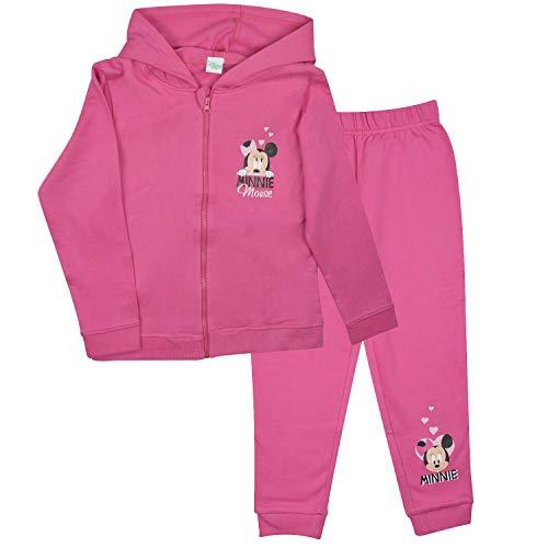 Disney Minnie Mouse Baby Kleinkind Jogging Anzug, pink (74/80)
