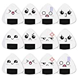 Dulphee Guitar Picks White Sushi Rice Balls Pattern Guitar Picks Classical Triangle 0.96mm Heavy Guitar Plectrums 12 Pack for Bass, Acoustic & Electric Guitars
