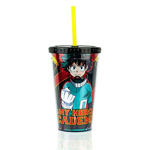 My Hero Academia Plastic Cup   Licensed Anime And Manga merchandise   16 ounces BPA Free Plastic   Perfect For Home, School, Traveling, And More