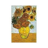 assoluto Rompecabezas De Girasol Van Gogh, 150 Piezas En Caja Fotografía Juguetes Juego Arte Pintura, Rompecabezas para Adultos Y Niños