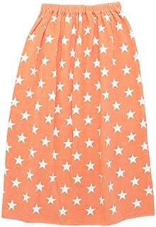 ラップタオル 子供 キッズ 女の子 男の子 80cm ビーチタオル バスタオル プール 海水浴 水泳 スイミング 川 水遊び キッズ用 スターオレンジ