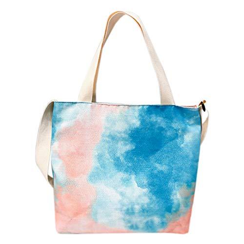 Multifit Damen-Handtasche mit Batikfärbung, für Shopping, Arbeit, Reisen, Blau (blau), Einheitsgröße