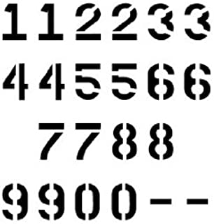 Number Stencil Set   10 inch Parking Lot Font   10 mil   Paint Stencils for Pavement and Wall Signs