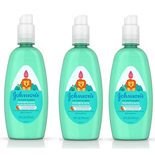 Johnsons & Johnson No More Tangles Spray Detangler, 10 Fl Oz (Pack of 3)