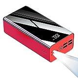 100000mAh Power Bank, Cargador Portátil USB-C, Paquete de Batería Externa con Pantalla Digital LCD Cargadores de Móvil con Salida 4-USB Banco de Energía para Teléfonos Inteligentes, Tabletas y más