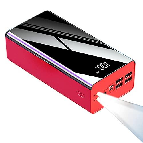 PWQ-01 Power Bank 100000mAh Caricabatterie Portatile Powerbank con Display Digitale LCD Batteria Esterna 4 Porte USB e 3 Ingressi Banca di Energia Compatibile con Smartphones, Tablet e Altri