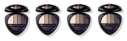 Dr.HAUSCHKA – Eye and Brow Palette 01 Stone 4 boîtes de 4,4 g, Fard à paupières en 100% naturel, tons vellutate et opaques, profondeur et espressività du regard