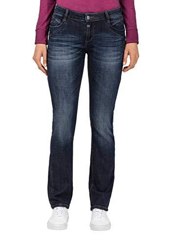 Timezone Damen Slim SeraTZ Straight Jeans, Blau (Classic Indigo wash 3186), W26/L32 (Herstellergröße:26/32)