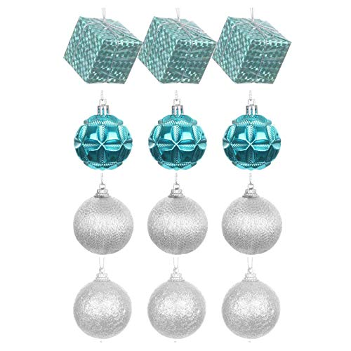 AMhomely Christmas Decorations Sale Clearance, 12Pcs Christmas Balls Ornaments for Xmas Christmas Tree - 4 Style ShatterproofMerry Christmas Decorative Xmas Decor Ornaments Party Decor Gifts 2020