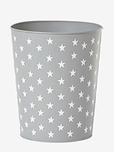 Vertbaudet Papierkorb für Kinderzimmer, Mülleimer grau ONE Size